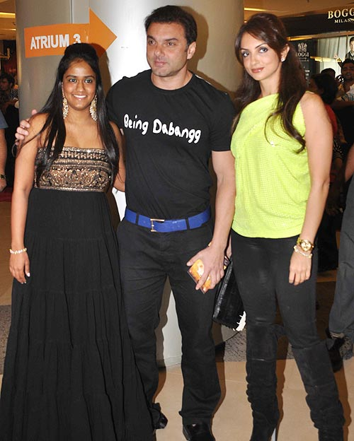 Arpita, Sohail and Seema Khan