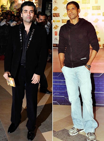 Karan Johar and Farhan Akhtar