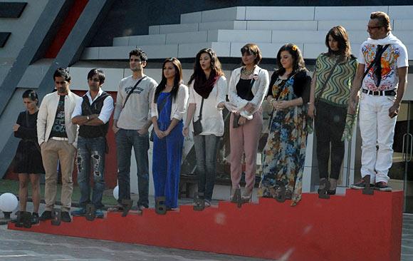 The contestants at Bigg Boss 6