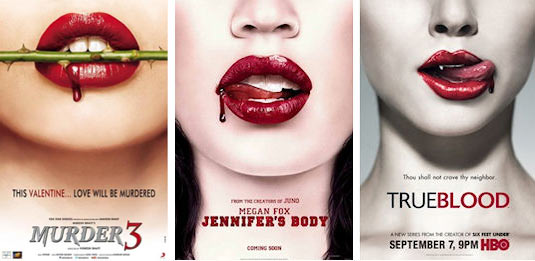 Movie poster of Murder 3, Jennifer's Body and True Blood
