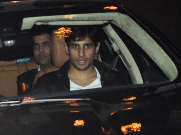 Sidharth attends Imran's Khan's housewarming with Karan Johar in Mumbai
