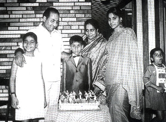 Mohammed Rafi with his wife Bilquis, and children Yasmin, Shahid and Nasreen