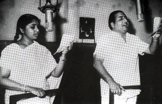 Mohammed Rafi with Asha Bhosle