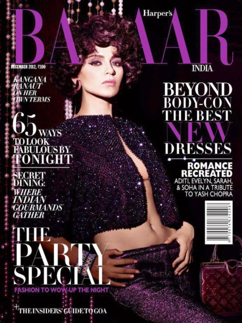 on Harper's Bazaar cover