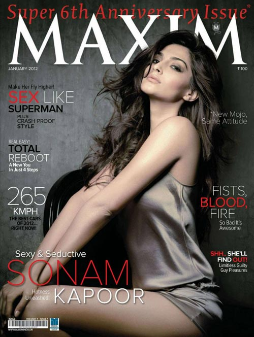 Sonam Kapoor on Maxim cover