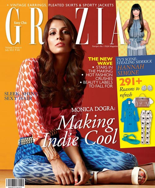 Monica Dogra on Grazia cover