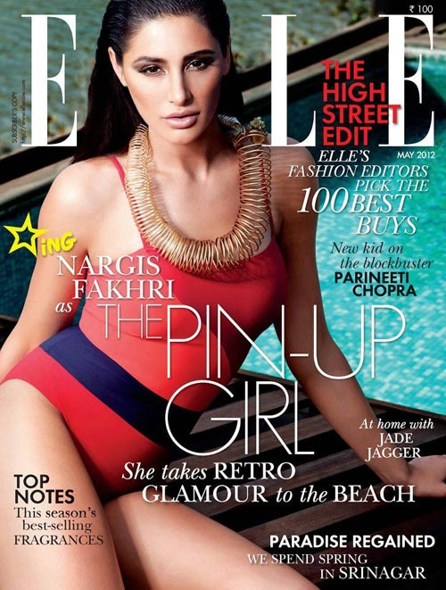 Nargis Fakhri on Elle cover