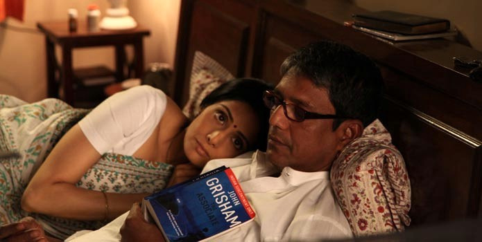 Adil Hussain with Sridevi in English Vinglish