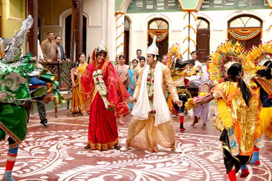 Priyanka Chopra and Ranbir Kapoor in Barfi