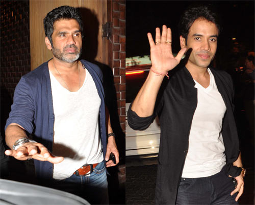 Suniel Shetty and Tusshar Kapoor