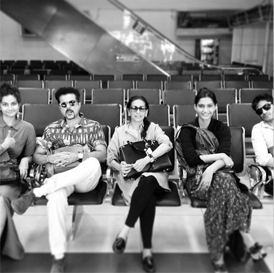 Rhea, Anil, Sunita, Sonam and Harshvardhan Kapoor