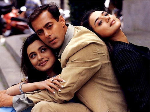 Rani Mukerji, Salman Khan and Preity Zinta in Chori Chori Chupke Chupke