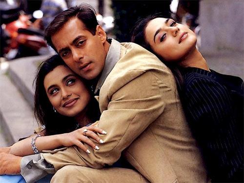 Rani Mukerji, Salman Khan and Preity Zinta in Chori Chori Chupke Chupke