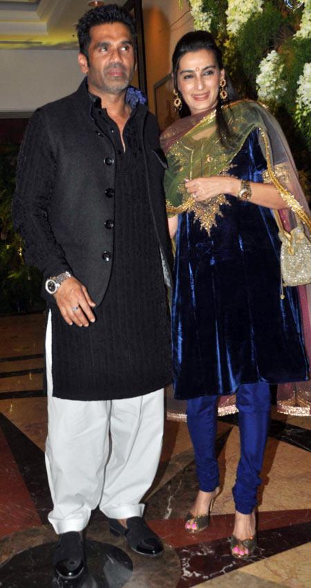 Suneil and Mana Shetty
