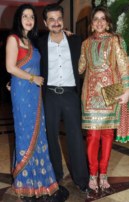 Maheep Kapoor, Sanjay Kapoor and Bhavna Pandey