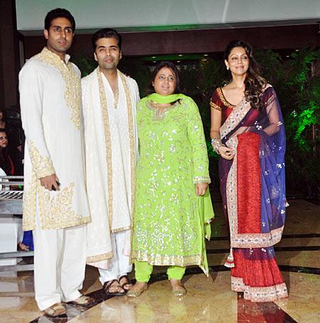 Abhishek Bachchan, Karan Johar and Gauri Khan