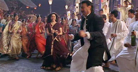 Shah Rukh Khan and Jackie Shroff in Devdas
