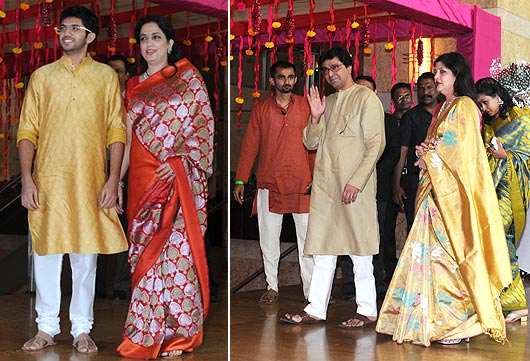 Aditya and Rashmi Thackeray, Raj and Sharmila Thackeray