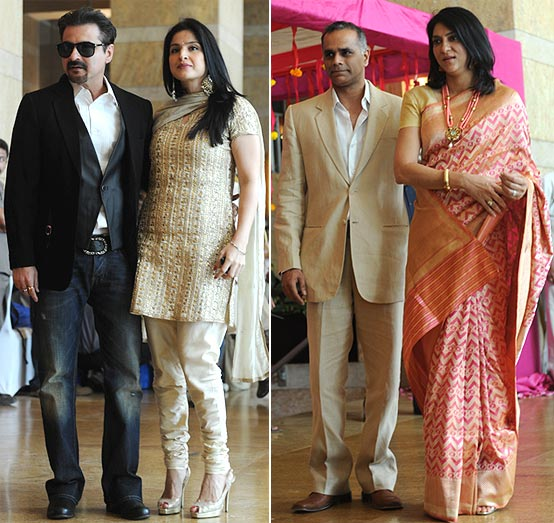 Sanjay and Maheep Kapoor, Owen Roncon and Priya Dutt
