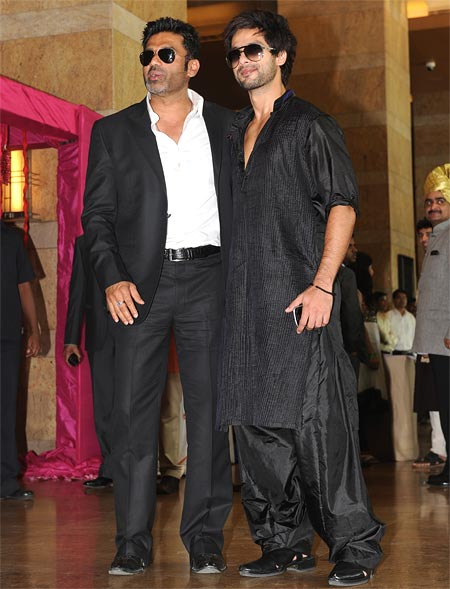 Suniel Shetty and Shahid Kapoor