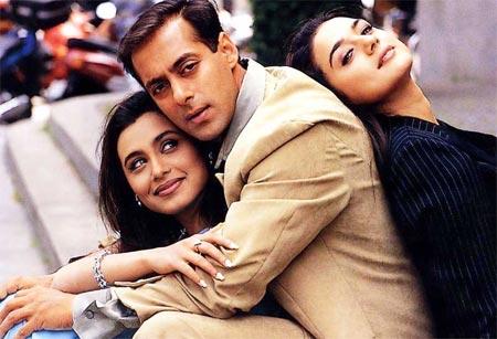 Rani Mukerji, Salman Khan and Preity Zinta in Har Dil Jo Pyaar Karega