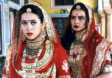 Karisma Kapoor and Rekha in Zubeidaa