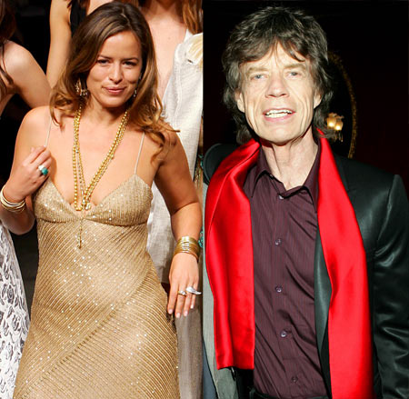 Jade and Mick Jagger