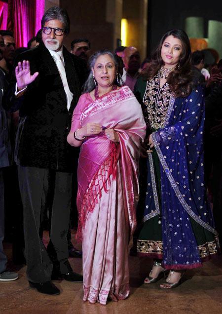 Amitabh, Jaya and Aishwarya Rai Bachchan