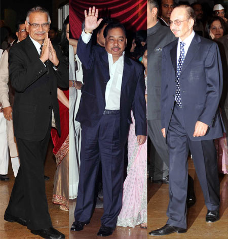 Shivraj Patil, Narayan Rane and Adi Godrej