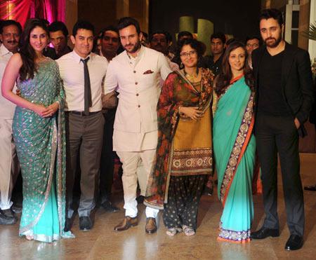Kareena Kapoor, Aamir Khan, Saif Ali Khan, Kiran Rao, Avantika Mallik and Imran Khan