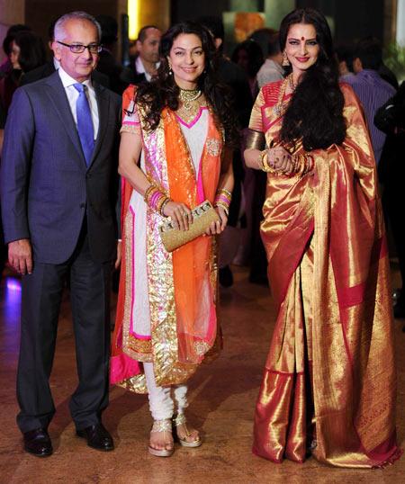 Juhi Chawla and Rekha