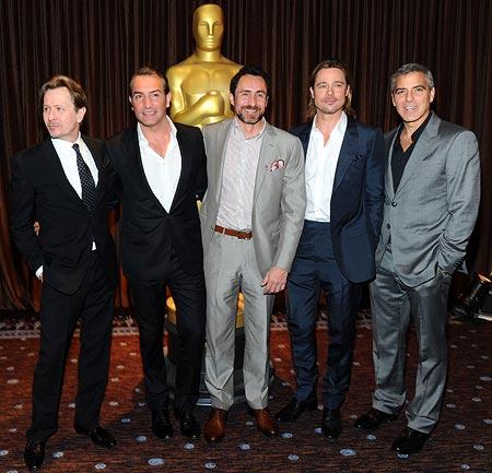 Gary Oldman, Jean Dujardin, Demian Bichir, Brad Pitt and George Clooney