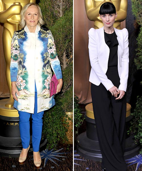 Glenn Close and Rooney Mara