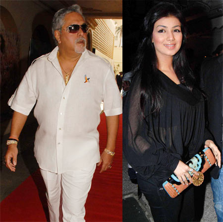 Vijay Mallya and Ayesha Takia