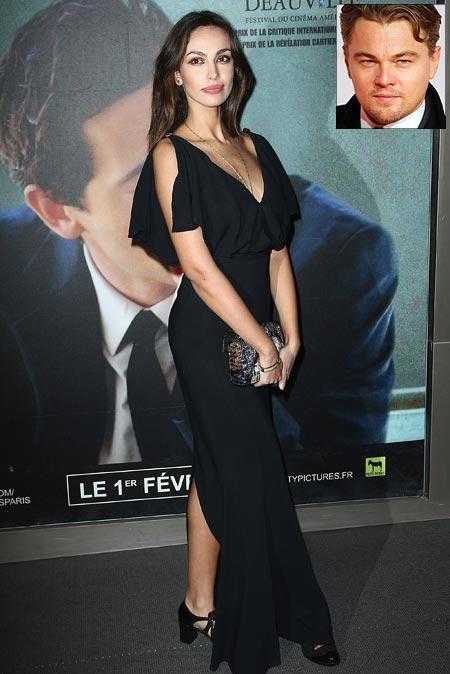 Madalina Ghenea. Inset: Leonardo DiCaprio