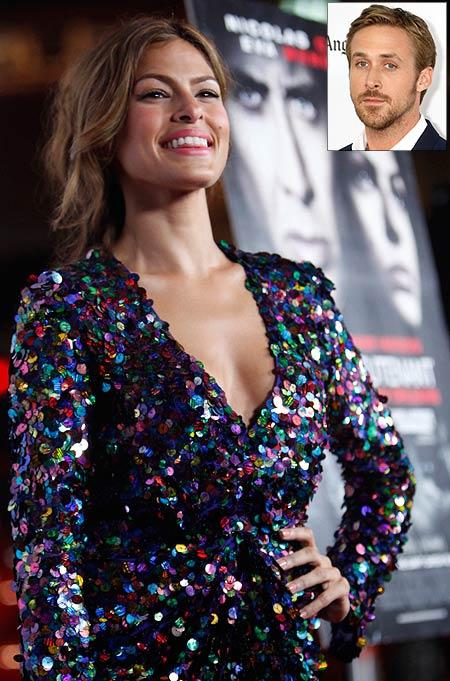 Eva Mendes. Inset: Ryan Gosling