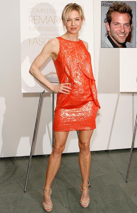 Renee Zellweger. Inset: Bradley Cooper