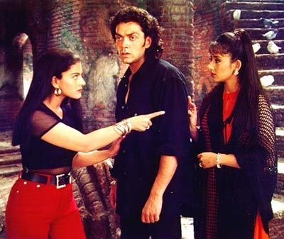 Kajol, Bobby Deol and Manisha Koirala in Gupt