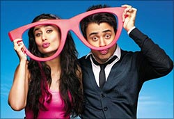 Kareena Kapoor and Imran Khan in Ek Main Aur Ekk Tu
