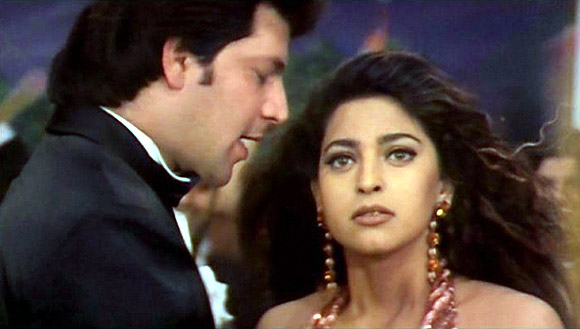Aditya Panscholi and Juhi Chawla in Yess Boss