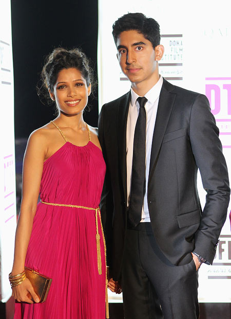 Freida Pinto and Dev Patel