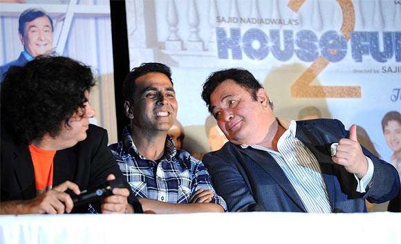 Sajid Khan, Akshay Kumar and Rishi Kapoor