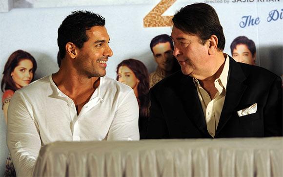 John Abraham and Randhir Kapoor