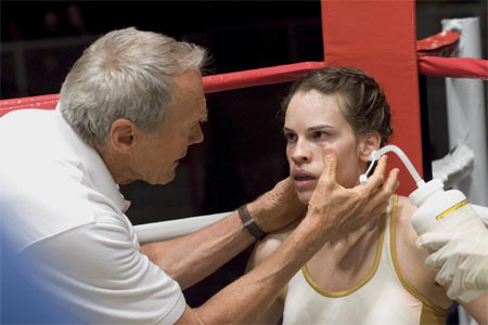 A scene  from Million Dollar Baby