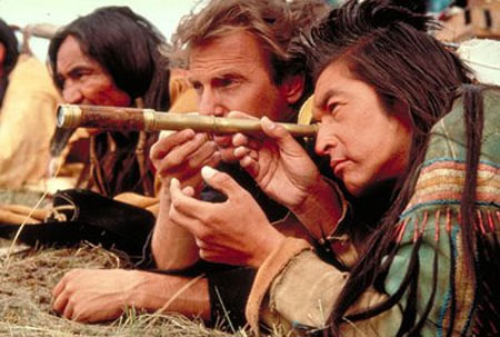 A scene from Dances With Wolves