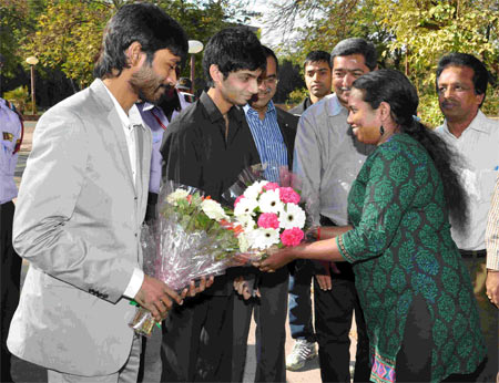 Dhanush and Anirudh at IIM-A