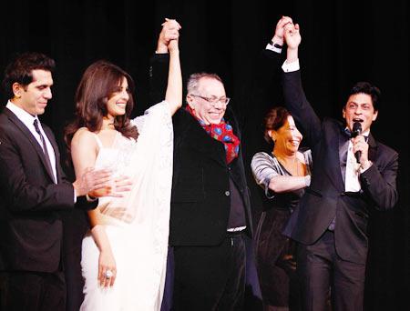 Ritesh Sidhwani, Priyanka Chopra, festival director Dieter Kosslick and Shah Rukh Khan