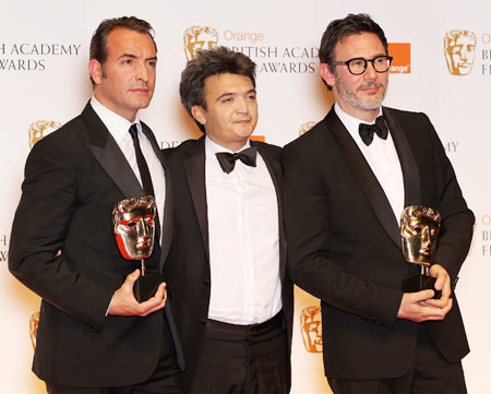 Jean Dujardin, Thomas Langmann and Michel Hazanavicius