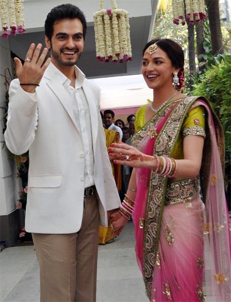 Bharat Takhtani and Esha Deol