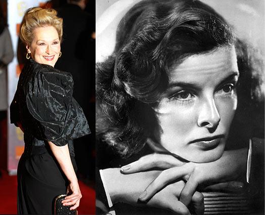 Meryl Streep and Katharine Hepburn